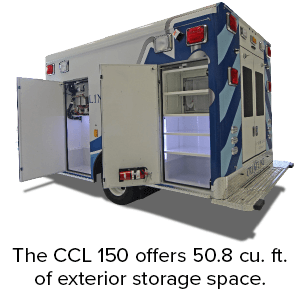 The CCL 150 offers 50.8 cu. ft. of exterior storage space.
