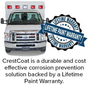 CrestCoat is a durable and cost effective corrosion prevention solution backed by a Lifetime Paint Warranty.