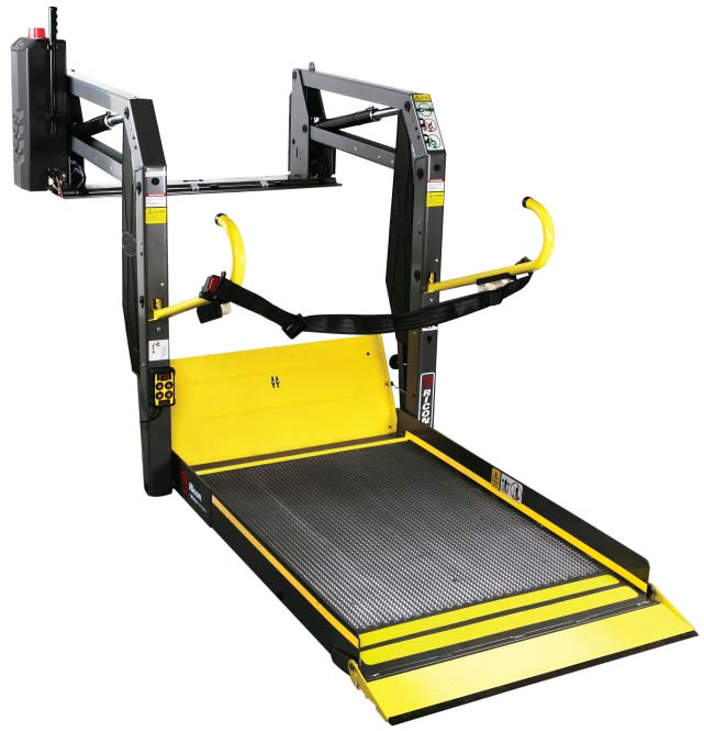 wheelchair lift the new heavy duty ricon titanium line of wheelchair