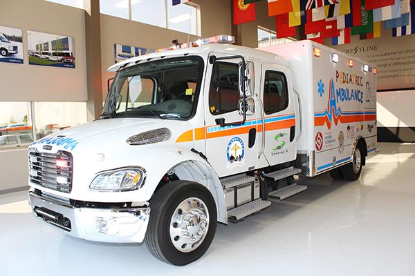 Crestline | Pediatric ambulances for safely transporting