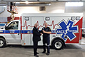 Congratulations to SD&G EMS Cornwall on the recent delivery of their three new FleetMax ambulances. Mike delivered them and handed off the keys to acting Chief W. Markell.