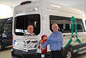 Congratulations to Dessercom on the delivery of their brand new Crestline Patient Transport Unit. Mike is shown handing over the keys to Jacques Gauthier, Fleet & Properties Manager.