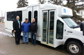 ElDorado Advantage Bus for the Town of Nipawin. Seen in photo (left to right): Barry Elliott - CAO of Nipawin, Jim Rutherford - Driver and David Trann - Mayor of Nipawin.