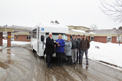 Goshen Impulse Bus for Friends of Tabusintac Nursing Home in Tabusintac, NB. Seen in photo (left to right): Wes Woods - Crestline, Gayle Chuchill - Exec. Director, Amy Hill - Activity Coordinator, Ray Harding - Board of Directors Chair, Mark Palmer - Board Member and Fraser McCallum - Maintenance Supervisor.