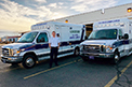 Congratulations to Tri-State Ambulance in Wisconsin, USA, on the delivery of (2) new Crestline Commander XT ambulances. Enjoy your new ambulances and thank you for your business. Photo: courtesy of Eric at Tri-State Ambulance