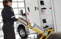 Crestline's exclusive O2 To Go System is the back saver for EMS personnel.